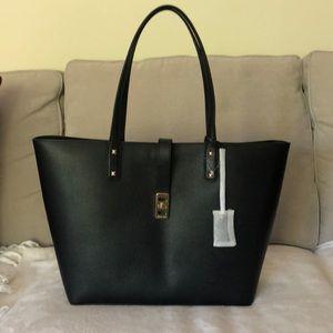 New Michael Kors Black Leather bag